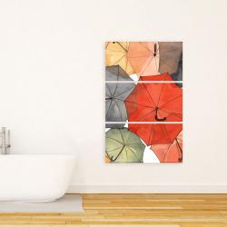 Canvas 24 x 36 - The umbrellas of petit champlain