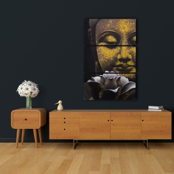 Canvas 24 x 36 - The eternal smile of buddha and his lotus