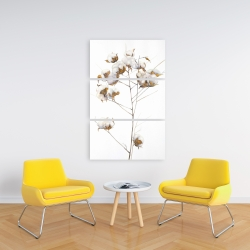 Canvas 24 x 36 - Cotton flowers branch