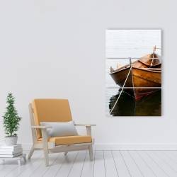 Canvas 24 x 36 - Rowboat on calm water
