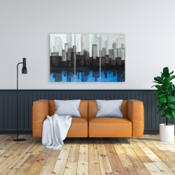 Canvas 24 x 36 - View of a blue city