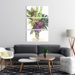 Canvas 24 x 36 - Tropical flower assemblage