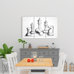 Canvas 24 x 36 - Chess game pieces