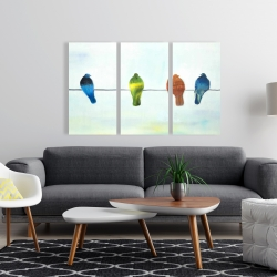 Canvas 24 x 36 - Perched abstract birds
