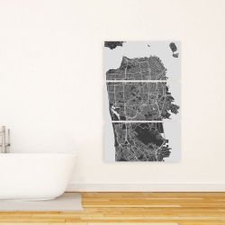 Canvas 24 x 36 - San francisco city plan