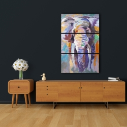 Canvas 24 x 36 - Elephant in pastel color