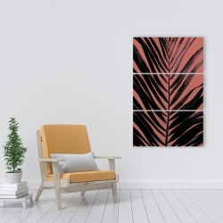 Canvas 24 x 36 - Coral tropical palm leave