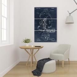 Canvas 24 x 36 - Blueprint football helmet
