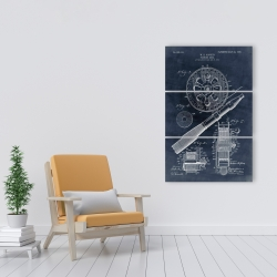 Canvas 24 x 36 - Blueprint of a fishing reel
