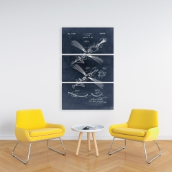 Canvas 24 x 36 - Blueprint of a fish lure