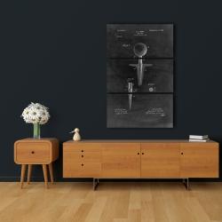 Canvas 24 x 36 - Black blueprint of golf tee