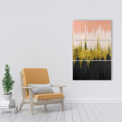 Canvas 24 x 36 - Abstract zigzag