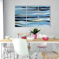 Canvas 24 x 36 - Blue sweep