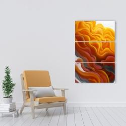 Canvas 24 x 36 - Colorful smoke