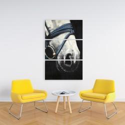 Toile 24 x 36 - Cheval avec harnais d'attelage