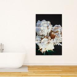 Canvas 24 x 36 - Blooming peonies