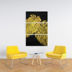 Canvas 24 x 36 - Gold monstera