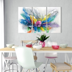 Canvas 24 x 36 - Abstract flower with newspaper