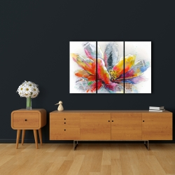 Canvas 24 x 36 - Abstract flower with texture