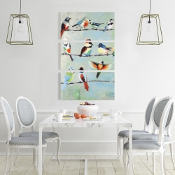 Canvas 24 x 36 - Small abstract colorful birds