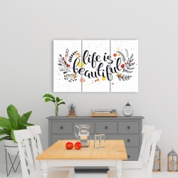 Canvas 24 x 36 - Life is beautiful