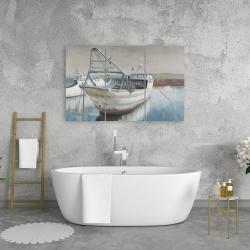 Canvas 24 x 36 - Fishing boat desatured