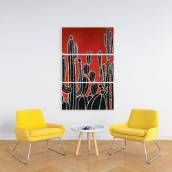Canvas 24 x 36 - Black tall cactus