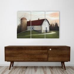 Canvas 24 x 36 - White barn view