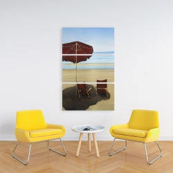 Canvas 24 x 36 - Relax at the beach