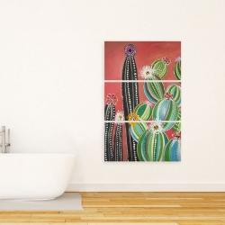 Canvas 24 x 36 - Rainbow cactus