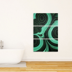 Canvas 24 x 36 - Malachite stone