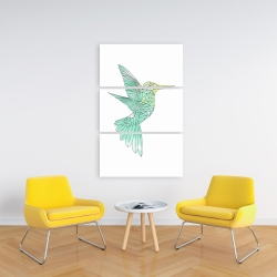 Canvas 24 x 36 - Geometric hummingbird