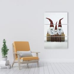 Canvas 24 x 36 - Three christmas gnomes
