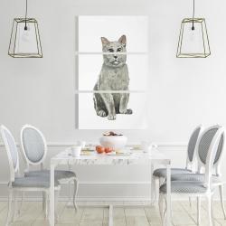 Canvas 24 x 36 - British shorthair cat