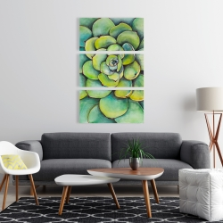 Canvas 24 x 36 - Watercolor succulent plant