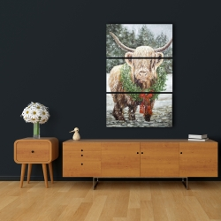 Canvas 24 x 36 - Highland christmas cow