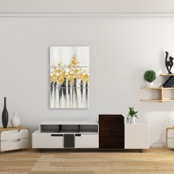 Canvas 24 x 36 - Abstract gold flowers