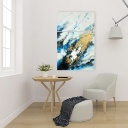 Canvas 24 x 36 - Blue and gold marble