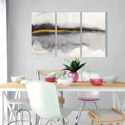 Canvas 24 x 36 - Gold stripe abstract