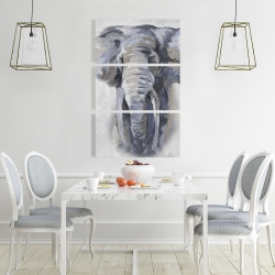 Canvas 24 x 36 - Pastel blue elephant