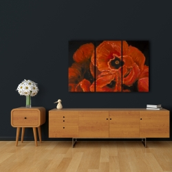 Canvas 24 x 36 - Poppy bouquet