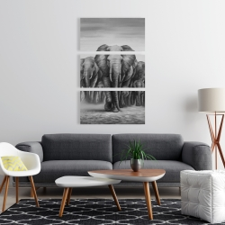 Canvas 24 x 36 - Herd of elephants
