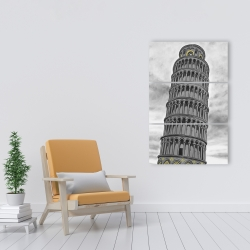 Canvas 24 x 36 - Tower of pisa in italy