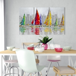 Canvas 24 x 36 - Sailboats in the wind