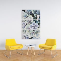 Canvas 24 x 36 - Colorful hydrangea flowers