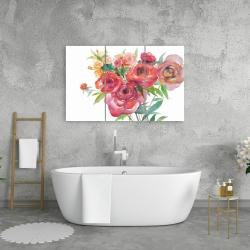 Canvas 24 x 36 - Watercolor bouquet of flowers