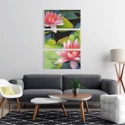 Canvas 24 x 36 - Water lilies and lotus flowers