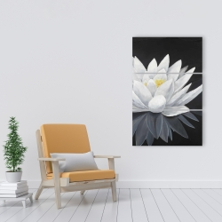 Canvas 24 x 36 - Lotus flower with reflection