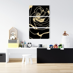 Canvas 24 x 36 - Silhouette of a rose