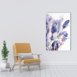 Canvas 24 x 36 - Watercolor lavender flowers with blur effect